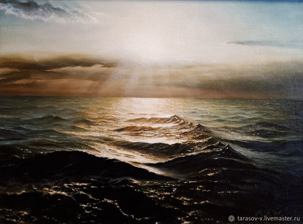 Авторская картина Сверкающее Черное море, Картины, Москва,  Фото №1