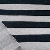 Распродажа интерлок Полоса чернильно-синяя.