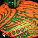 """Кулоны, подвески ручной работы. Кулон с узором пейсли из полимерной глины """"Зелёный и оранжевый"""". Artline-tv. Интернет-магазин Ярмарка Мастеров."""