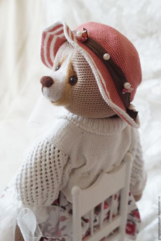 Мишки Тедди ручной работы. Ярмарка Мастеров - ручная работа. Купить Виктория фон Медведеff, вязанная мишка в одежде. Handmade.