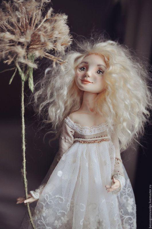 Авторская коллекционная статичная кукла ОДУВАНЧИК (ДЕВЧОНКИ, КАК ЦВЕТЫ)