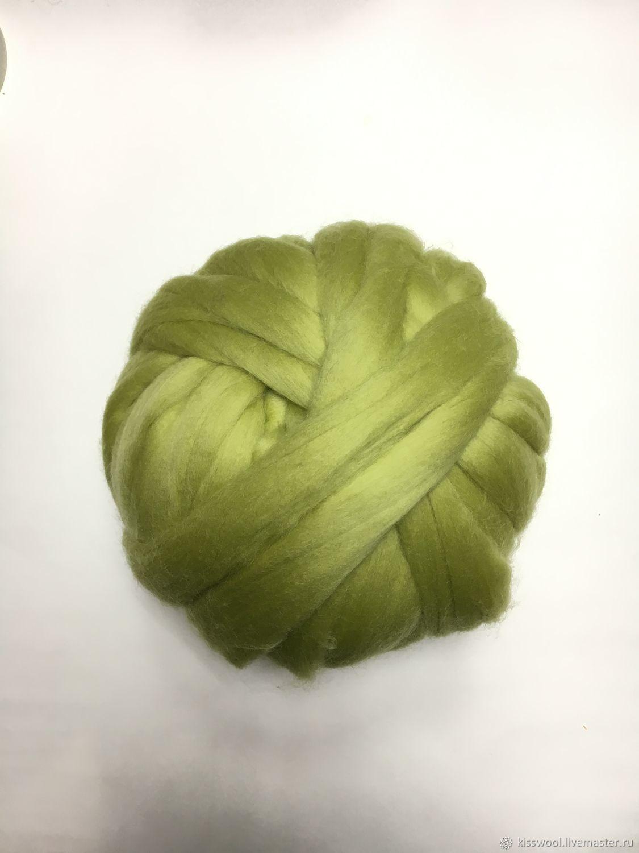Australian Merino 20-21 MD.Green melon. Germany. Wool, Wool, Berdsk,  Фото №1