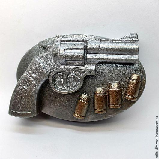 Мыло Револьвер с патронами, мыло ручной работы
