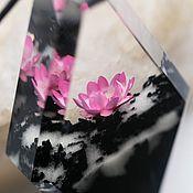 Украшения handmade. Livemaster - original item Wooden Lotus pendant. Handmade.