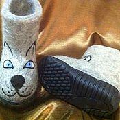 """Обувь ручной работы. Ярмарка Мастеров - ручная работа Валенки детские """"Котик-коток"""". Handmade."""