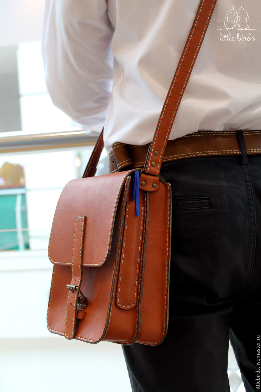 Mens leather handbag, Men\'s bag, St. Petersburg,  Фото №1