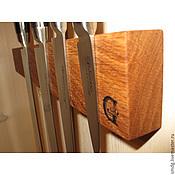 Для дома и интерьера ручной работы. Ярмарка Мастеров - ручная работа Магнитный держатель для ножей. Дуб. 350 мм.. Handmade.