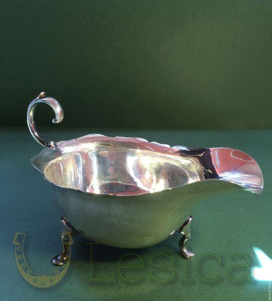 Винтажная посуда. Ярмарка Мастеров - ручная работа. Купить Соусник серебро Англия антиквариат. Handmade. Серебряный, бирмингем, Столовое серебро