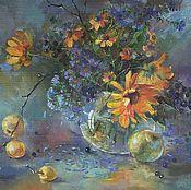 Картины и панно ручной работы. Ярмарка Мастеров - ручная работа картина маслом Из осени. Handmade.