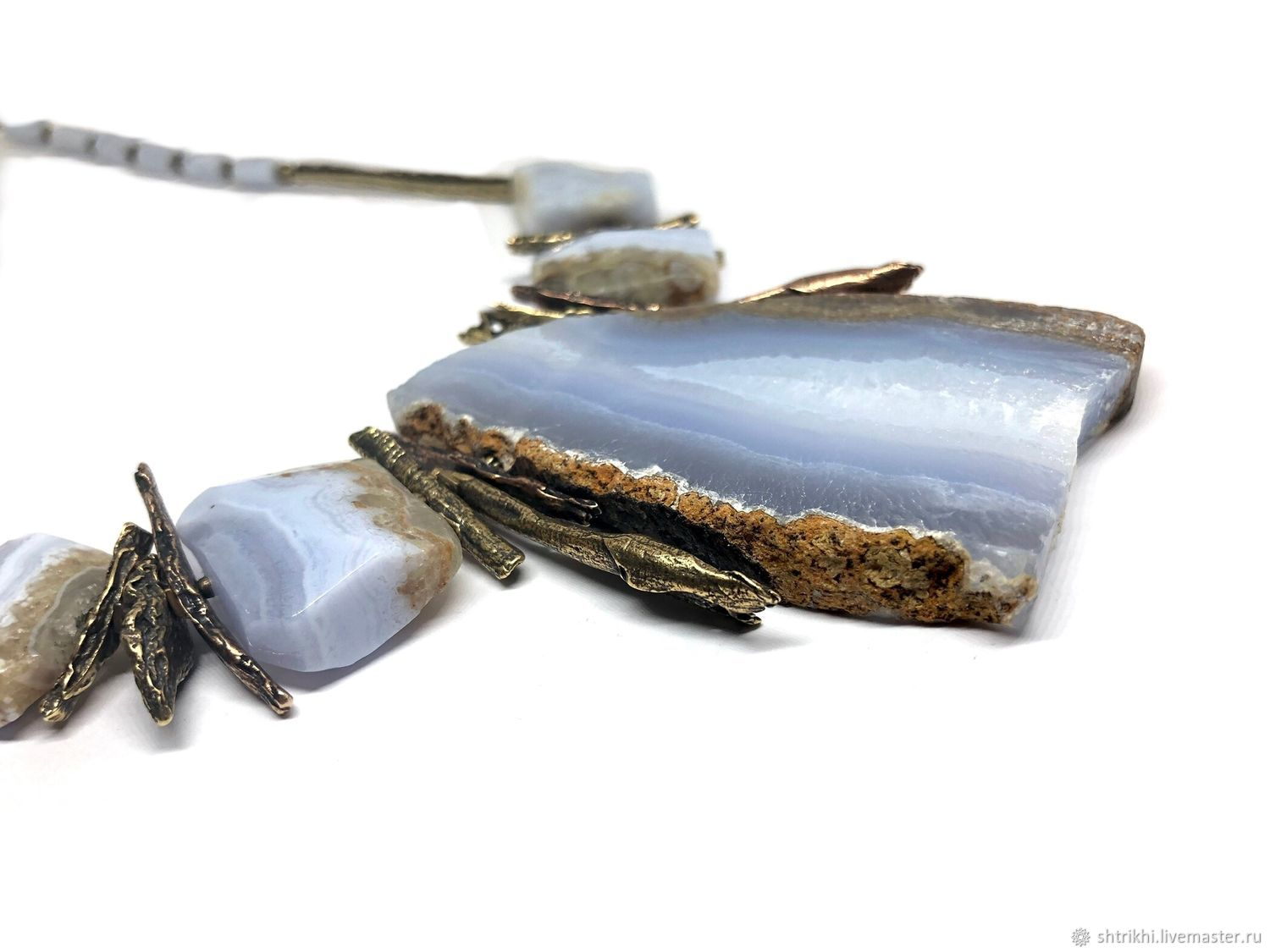 Necklace Part Of The World. Blue agate of sapfirine, accessories Anna Black, Necklace, Moscow,  Фото №1