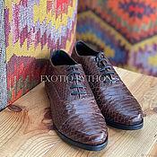 Обувь ручной работы handmade. Livemaster - original item Men`s shoes Python skin. Handmade.