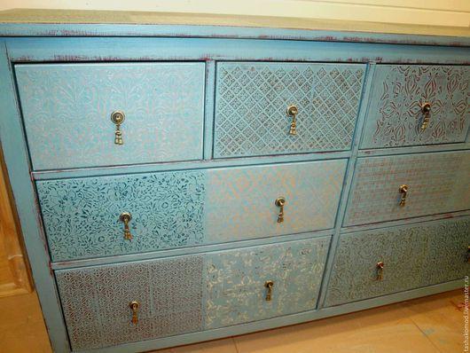 """Мебель ручной работы. Ярмарка Мастеров - ручная работа. Купить Комод """"Краски времени-2"""". Handmade. Разноцветный, оформление мебели"""