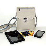 Сумки и аксессуары handmade. Livemaster - original item Men`s leather bag beige Orlando Mod C61-141. Handmade.
