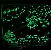 Для дома и интерьера ручной работы. Ярмарка Мастеров - ручная работа Метрика с подсветкой. Handmade.