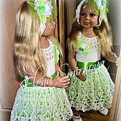Работы для детей, ручной работы. Ярмарка Мастеров - ручная работа детское вязаное платье. Handmade.