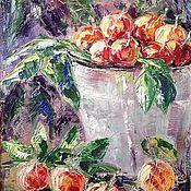 """Картины и панно ручной работы. Ярмарка Мастеров - ручная работа Картина: """"Яблоки собрали"""". Handmade."""
