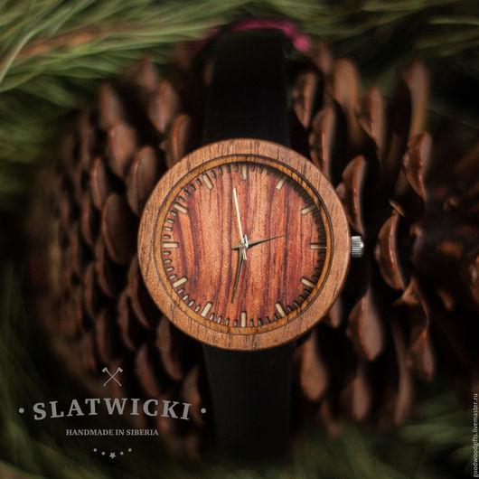 """Часы ручной работы. Ярмарка Мастеров - ручная работа. Купить Наручные часы из дерева. """"Slatwicki"""": бубинга. Handmade. Часы, бубинга"""