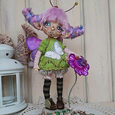 Куклы и игрушки ручной работы. Ярмарка Мастеров - ручная работа Феечка. Текстильная интерьерная кукла.. Handmade.