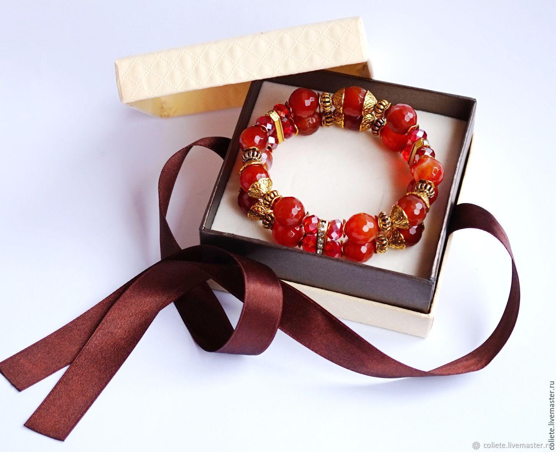 Carnelian bracelet ' Royal luxury!', Amulet, Moscow,  Фото №1