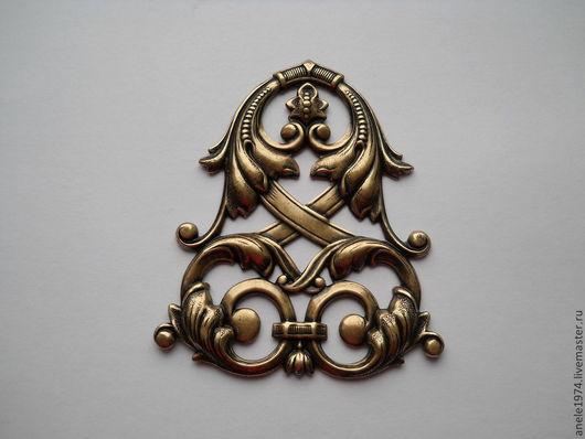 """Для украшений ручной работы. Ярмарка Мастеров - ручная работа. Купить Филигрань античная бронза """"Кельтский щит"""" 1шт. Handmade."""