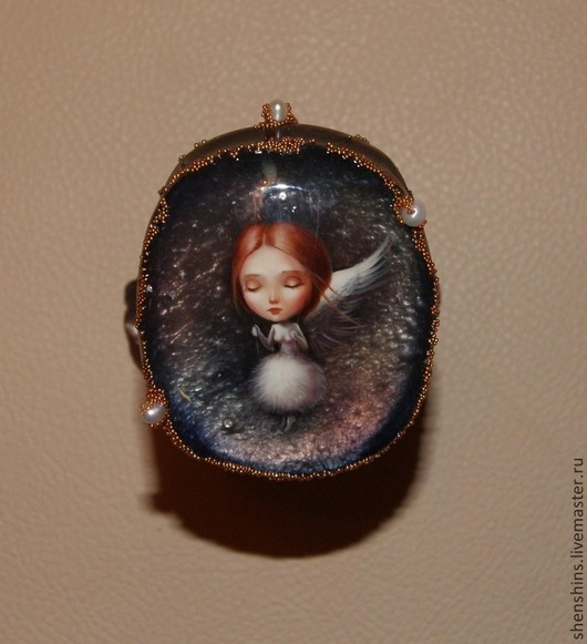 """Шкатулки ручной работы. Ярмарка Мастеров - ручная работа. Купить шкатулка """"Ангел времени"""". Handmade. Ангел, перламутр натуральный"""