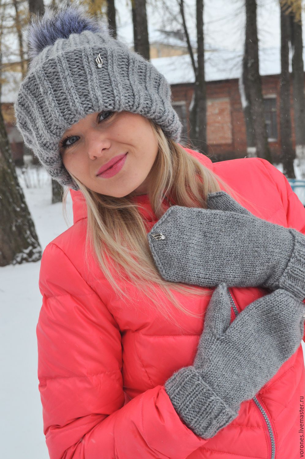 Warm set of hat and mittens(fluff Bunny), Headwear Sets, Moscow,  Фото №1