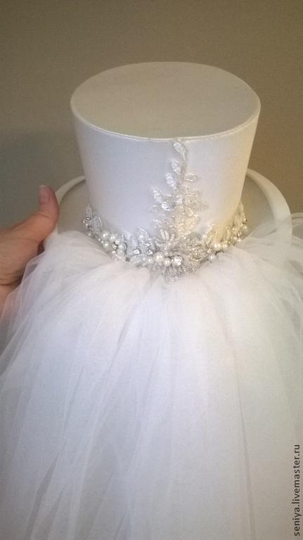 Одежда и аксессуары ручной работы. Ярмарка Мастеров - ручная работа. Купить Цилиндр для невесты. Handmade. Белый, шляпка для невесты