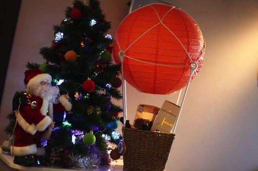 Новый год 2017 ручной работы. Ярмарка Мастеров - ручная работа. Купить Воздушный шар-ночник-светильник. Handmade. Шар, подарок
