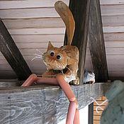 Для дома и интерьера ручной работы. Ярмарка Мастеров - ручная работа Кот под крышей. Handmade.
