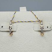 Украшения handmade. Livemaster - original item Gold diamond earrings 0,201 ct. Handmade.