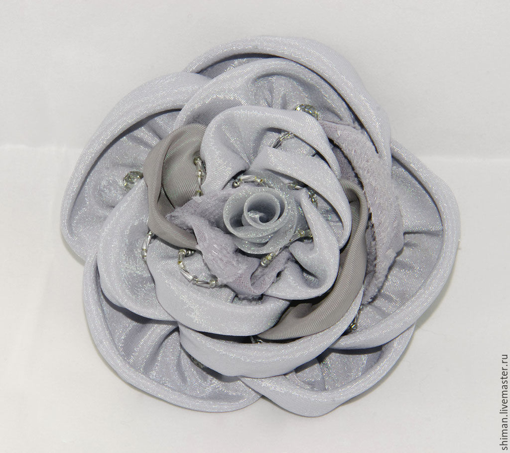 Ярмарка мастеров цветы из ткани мастер класс + видео #5