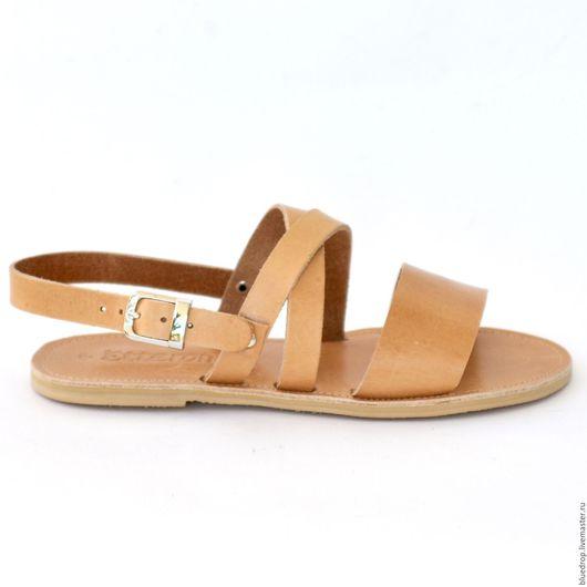 Обувь ручной работы. Ярмарка Мастеров - ручная работа. Купить Кожаные сандалии с перекрещенными ремешками на подъеме. Handmade. Сандалии
