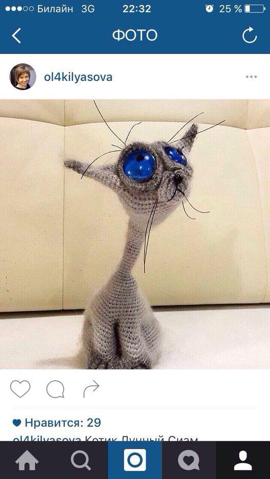 """Игрушки животные, ручной работы. Ярмарка Мастеров - ручная работа. Купить Кот """"Лунный Сиам"""". Handmade. Белый, кошка игрушка"""