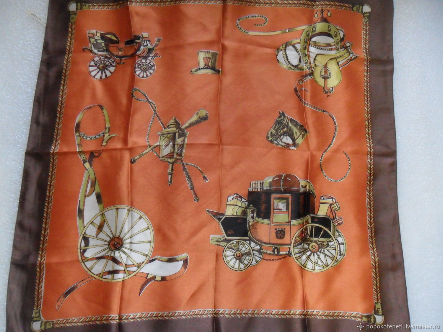 Vintage handkerchief patterned,acetate,vintage Europe, Vintage accessories, Novorossiysk,  Фото №1