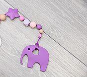 Работы для детей, ручной работы. Ярмарка Мастеров - ручная работа Держатель в нежных тонах со слонёнком. Handmade.
