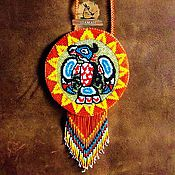 Фен-шуй и эзотерика ручной работы. Ярмарка Мастеров - ручная работа Солнечный Кондор шаманское зеркало индейское. Handmade.