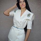 Одежда handmade. Livemaster - original item Elegant pantsuit with embroidery