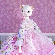Куклы и пупсы ручной работы. Ярмарка Мастеров - ручная работа Кошечка  Libby  авторская  интерьерная кукла. Handmade.
