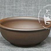 Посуда ручной работы. Ярмарка Мастеров - ручная работа Тарелка порционная чернолощёная. Handmade.