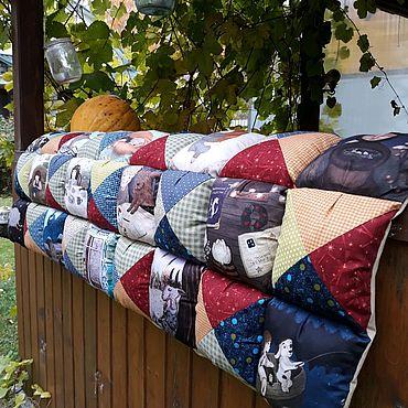 Текстиль ручной работы. Ярмарка Мастеров - ручная работа Подушка -сидушка, матрасик пухляш на подоконник. Handmade.