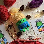 Мягкие игрушки ручной работы. Ярмарка Мастеров - ручная работа Игрушка - вязанный кактус в шапке. Handmade.
