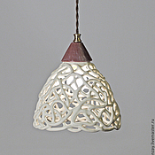 Для дома и интерьера handmade. Livemaster - original item Cream openwork ceramic lamp on the suspension. Handmade.