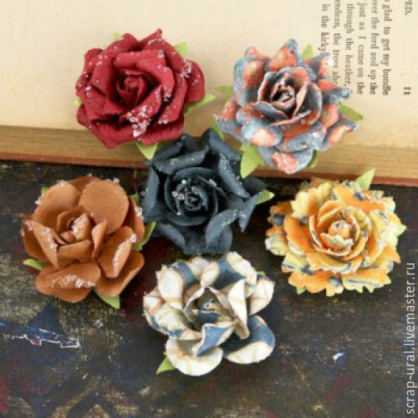 Paper flowers timido craftsman collection shop online on cards scrapbooking handmade livemaster handmade buy paper flowers timido craftsman collection mightylinksfo