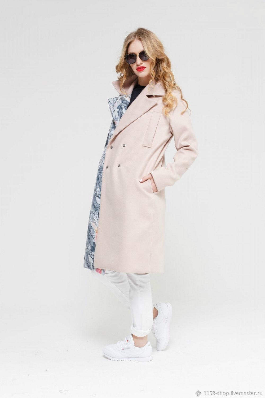 05e44b28c Пальто с цветочным принтом, осень-весна, зима – купить в интернет ...