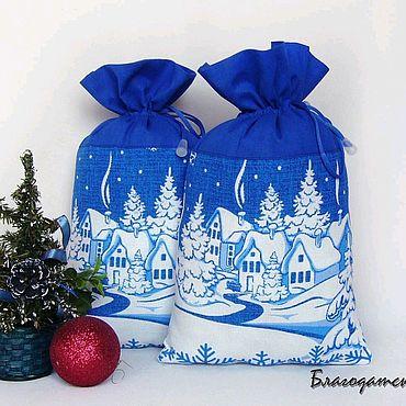 Мешочек для подарка Зима