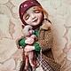 """Коллекционные куклы ручной работы. Ярмарка Мастеров - ручная работа. Купить """"Ты мой..."""". Handmade. Зима, котенок, нежность"""