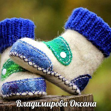 Обувь ручной работы. Ярмарка Мастеров - ручная работа Пинетки из шерсти , валенки для малышей, детская обувь. Handmade.