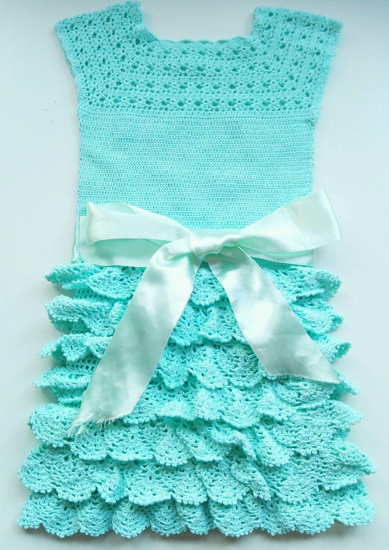 """Вязаное ажурное платье """"льдинка"""" для девочки"""