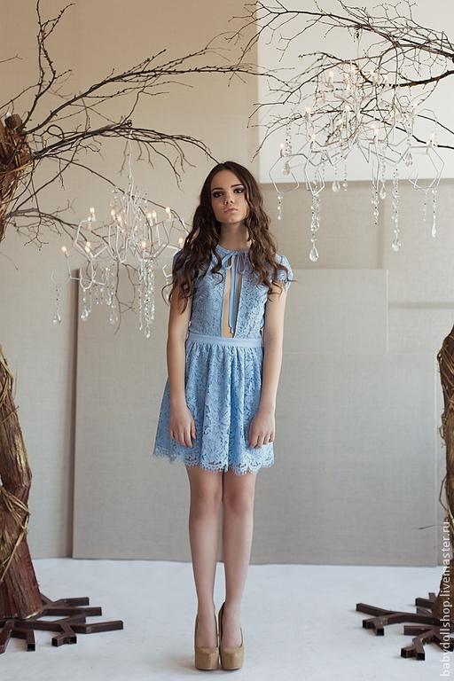 Голубое платье купить