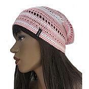 Аксессуары handmade. Livemaster - original item Hat cotton Pink dream. Handmade.